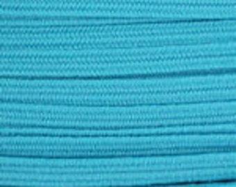 "1/8"" Skinny Elastic Turquoise - 3yds"