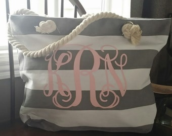 Monogrammed Beach Bag, Bridal Gift, Monogrammed Tote, Beach Bag Personalized, Bridal Party, Beach Bag, Beach Tote, Bridesmaid Gift