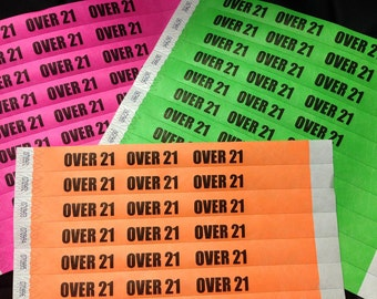 Custom Printed Tyvek wristbands in a Variety of COLORS QTY 50 per order