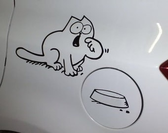 Hungry cat car vinyl decal sticker