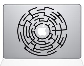 Circle Maze Runner apple macbook laptop decal sticker