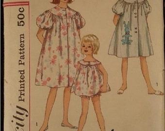 Simplicity Vintage 1960s Duster Bunny Housecoat Pattern 4496 Child's Size 10 sam