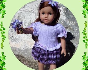 Violet Dress Knitting Pattern : knitting pattern pdf download of dress and leggings for 18