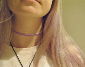 violet velvet choker
