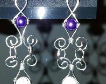 Purdy In Purple dangle earrings