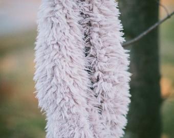 Faux Fur Lavender Cowl Scarf