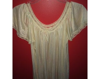 vintage silky floral nightgown