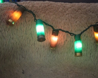 Camo Colored Shotgun Shell Party Lights ~ Great for the Man Cave!