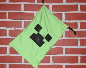 Inspired by Minecraft Colors Drawstring Bag / Party Favor Bags
