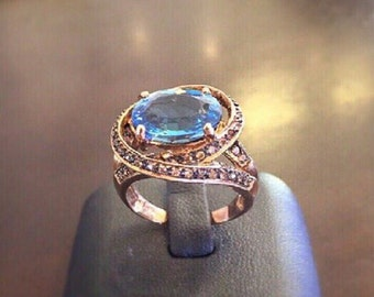 Champagne Blue Sapphire Ring