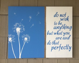 Wish Quote Painting