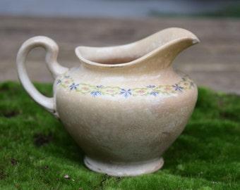 Vintage Ironstone/Ceramic Creamer Floral Design