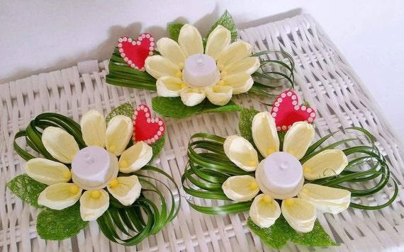 parti fleur en papier porte bougie fleurs centre de table. Black Bedroom Furniture Sets. Home Design Ideas