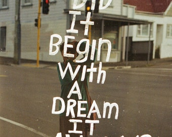Dream Quote 35mm film Analog Indie Photo Print