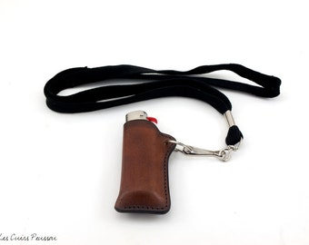 Leather Lighter Case -- Premium Cowhide Leather