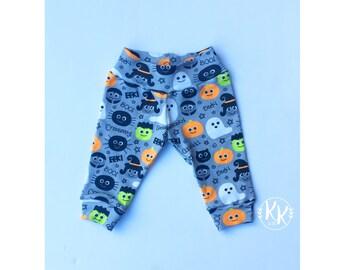 Halloween Pants, Halloween Leggings, Toddler Leggings, Baby Pants, Halloween Outfit, Baby Clothing, Halloween