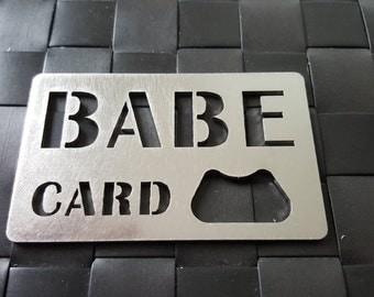 Babe Card Bottle Opener