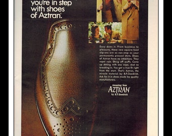"Vintage Print Ad November 1968 : Aztran B.F. Goodrich  Shoes Advertisement Color Wall Art Decor 8.5"" x 11"""