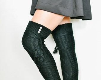 Zoey Boot Socks in Black.
