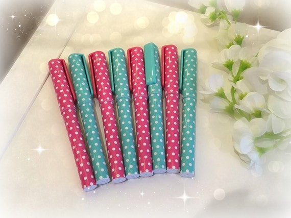 Polka Dot Pretty pastel dotty theme choice of pens/ Sweet and cute Stationary/school supplies/planner accessories