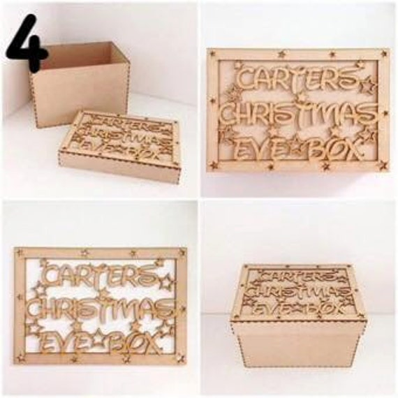 Personalized Wooden Christmas Eve Box - other styles available