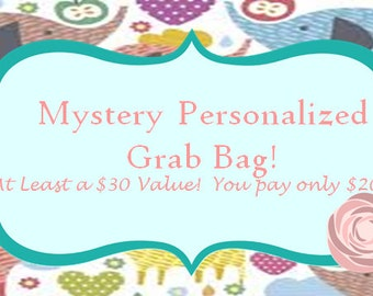 Mystery Personalized Grab Bag- baby grab bag- surprise gift-gift set