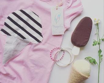 MayaFly Ice-Cream Shirt 2-4 Y Summer T-Shirt pink girls fashion for kids wardrobe