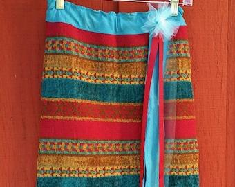 Boho Sweater Skirt, Sweater Skirt, UPcycled Skirt, Repurposed Skirt, Leg Warmers, Headband, Ready to Ship