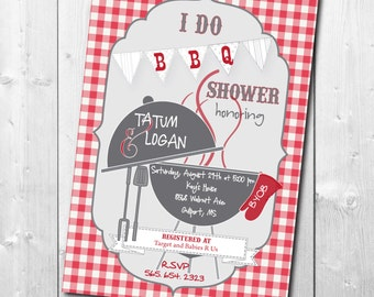 I Do BBQ Couples Shower Invitation / DIGITAL FILE / printable / wording can be changed