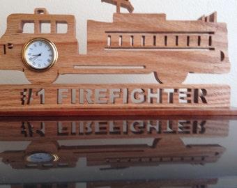 Firefighter's truck clock