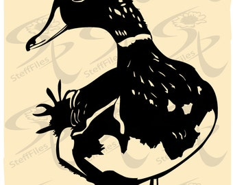 0273_ DUCK Vector Duck bird hen goose Silhouette Download files, Digital, graphical, AI, png, eps, jpg,svg,dxf