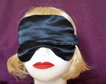 Luxe Black Satin Blindfold