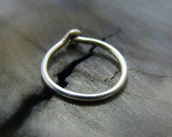helix earring hoop - cartilage earring 16 gauge - cartilage hoop sterling silver