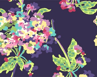 FABRIC Pre Cut & by the Yard:  Water Bouquet by Amy Butler in Midnight