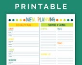 Meal Planning Kit - Printable PDF - 4 pages