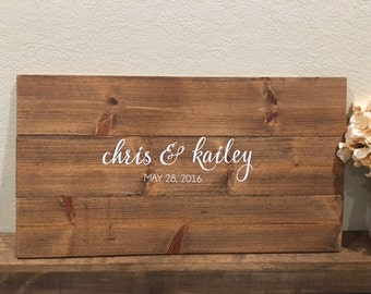 Wooden Guestbook Sign, Guestbook Alternative, Wedding Guestbook