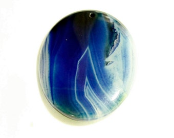 Banded Dream Agate Oval Focal Bead 47mm x 36mm x 6mm F60174