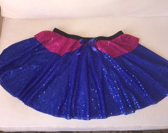 Anna frozen princess sister Inspired Running/Athletic Circle Skirt costume