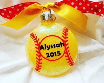 Softball Ornament // Fastpitch Ornament // Team Ornaments // Personalized