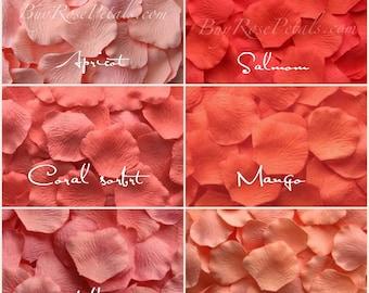 2000 Coral Rose Petals - Silk Rose Petals