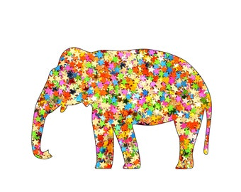Elephant Art Print Elephant Art Animal Art Zoo Art Nursery Art Animals Art Kids Art Print Sprinkles Sparkles Jelly Beans Cotton Candy Pink