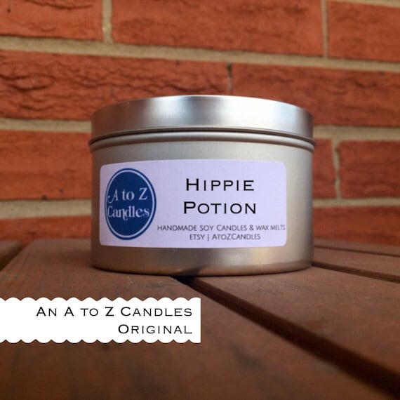 Hippie Potion Candle Hippie Candle Scented Soy By Atozcandles