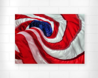 American Flag - Patriotic Decor - Red White and Blue Art - Military Wall Art - Unique Wall Art - Creative Home Decor - Country Home Decor