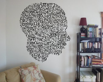 Wall Decal Room Sticker Bedroom mathematics school head numbers counting bo2937
