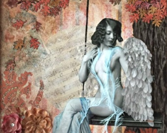 Resting Angel print angel art wall decor
