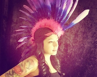 Ombre Feather Mohawk