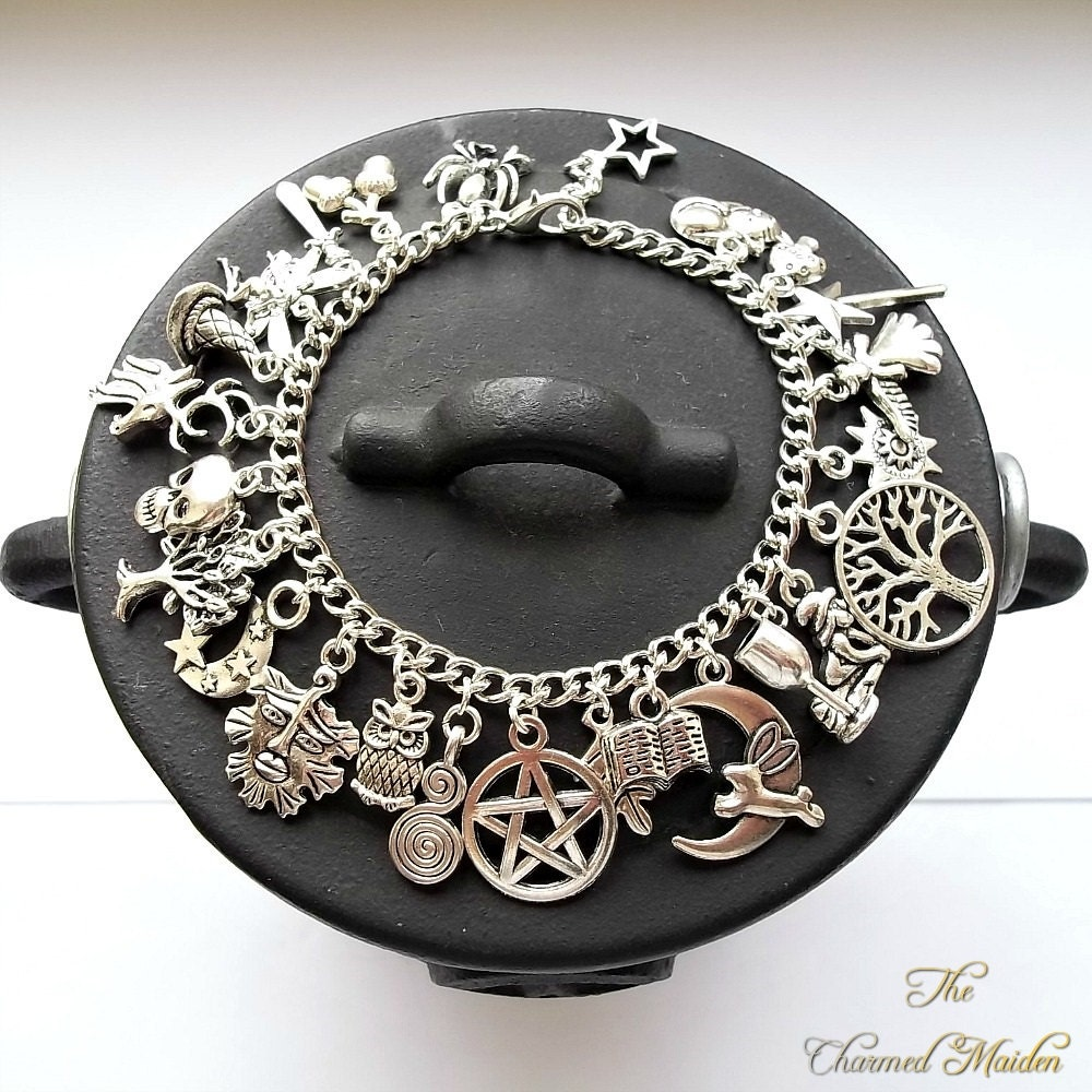 Charm Bracelets And Charms: Wiccan Charm Bracelet Pagan Charm Bracelet Wicca Witch