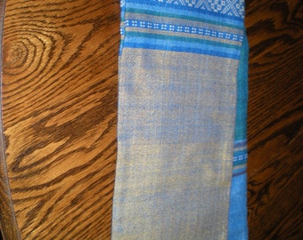"REDUCED! Handwoven Ethiopian 24"" x 64"" Cotton Table Runner or Scarf   FREE Shipping within US"