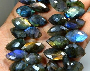 Labradorite Faceted Beads Marquise Shape 9x16 To 14x25.mm Approx New Arrival Superb Quality Wholesale Price