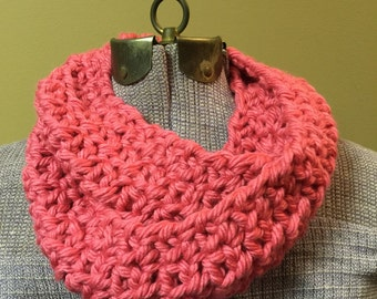 Pink Crocheted Cowl